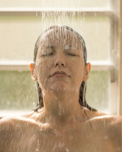 Taking hot baths & showers