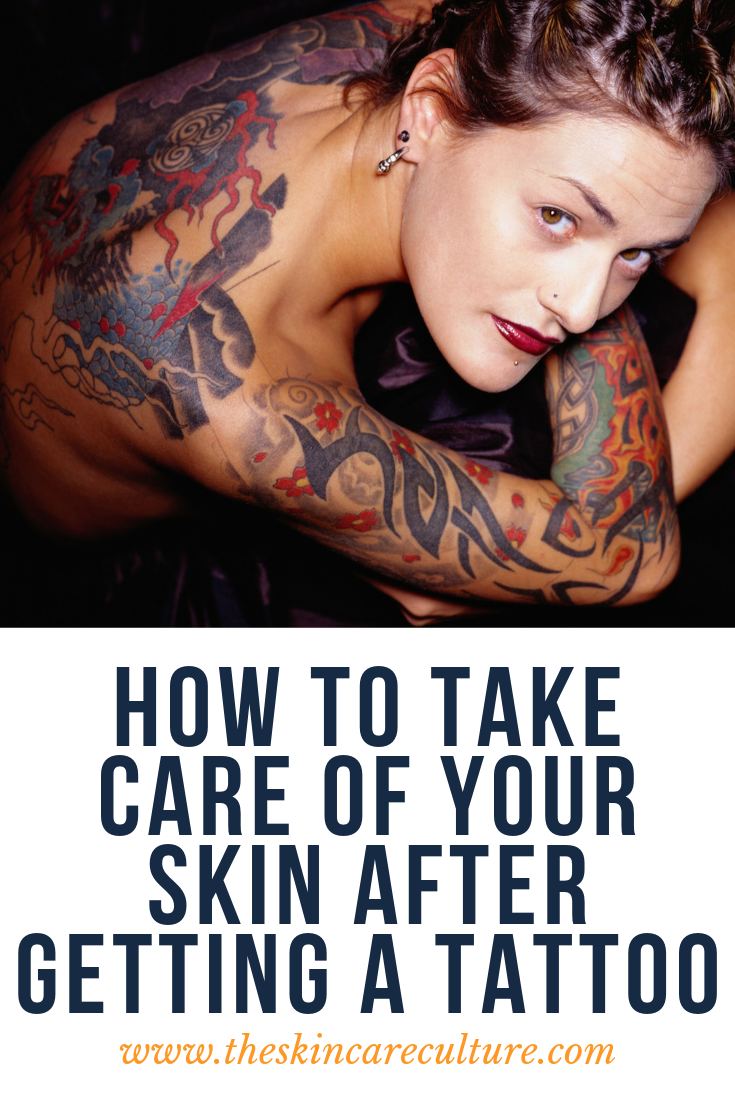 how to take care of your skin after getting a tattoo