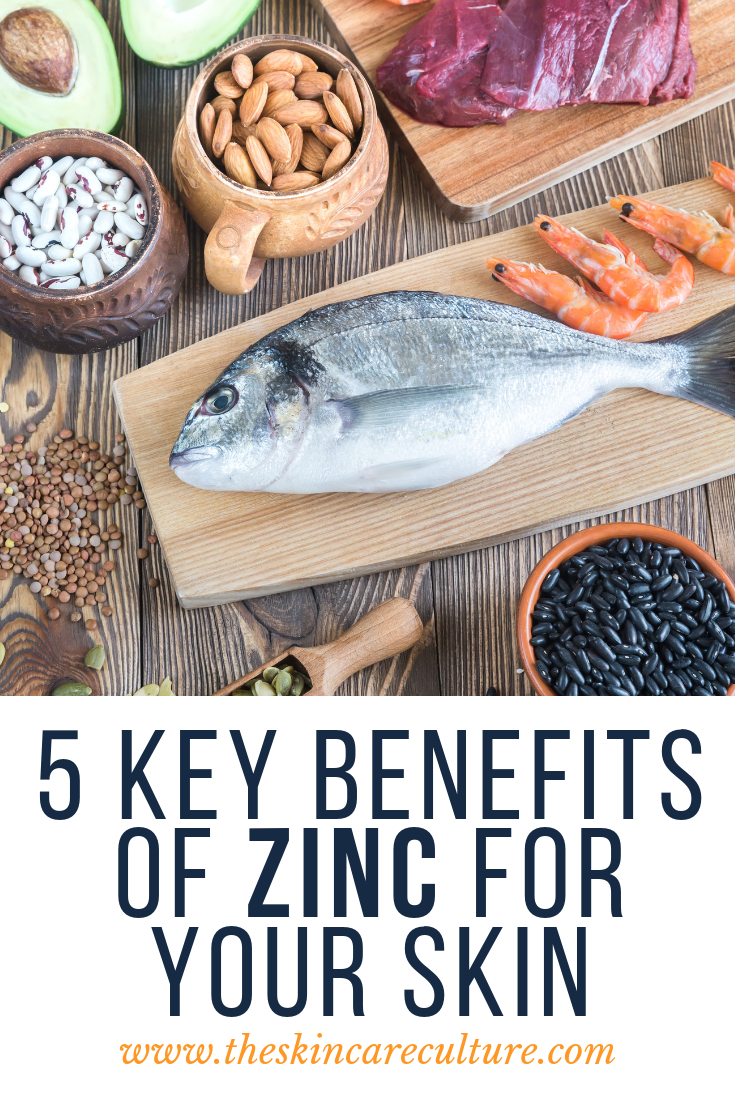 5 benefits of zinc on the skin