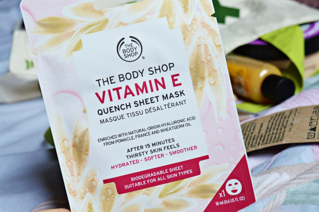 how to apply Body Shop face mask sheet