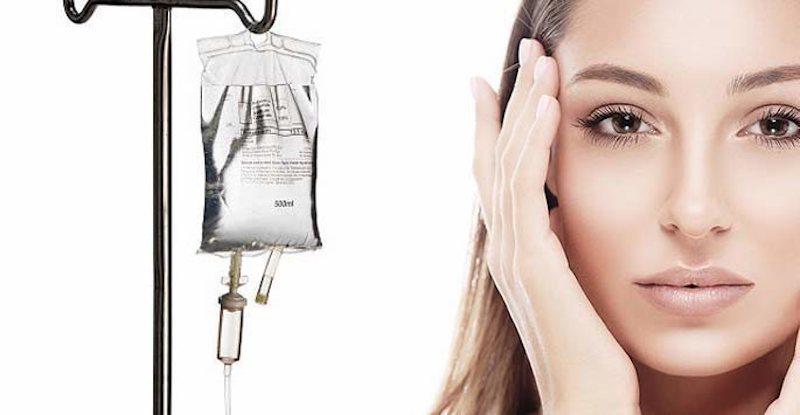Glutathione drip for skin whitening