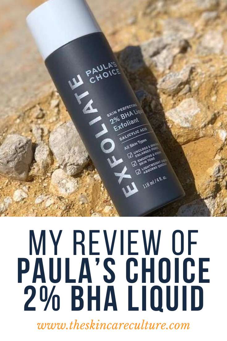 My Review of Paula's Choice 2% BHA Liquid