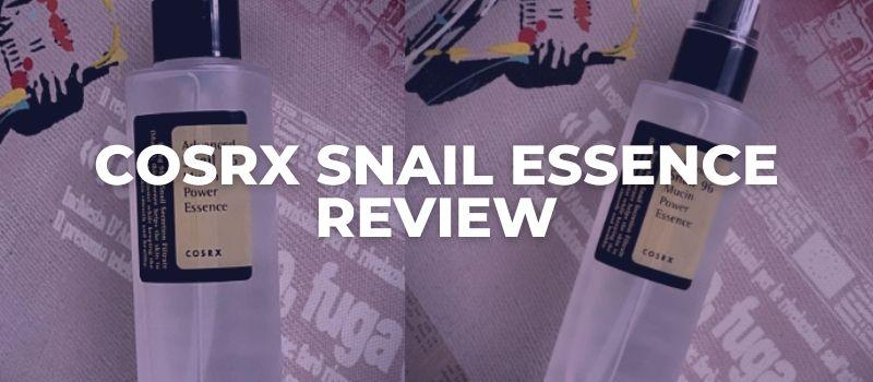 COSRX snail essence REVIEW