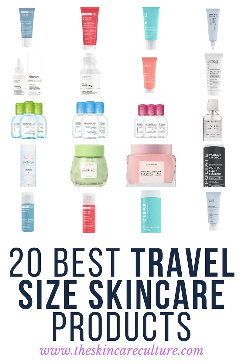 The 20 Best Travel Size Skincare Products To Take With You On Vacation