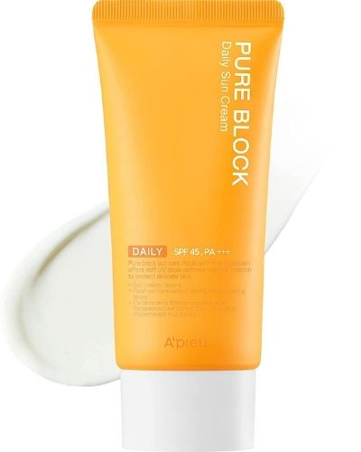 A'PIEU – Pure Block Daily Sun Cream SPF 45 - The Skincare Culture