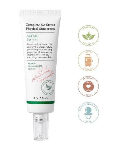 AXIS - Y - No-Stress Physical Sunscreen SPF 50 - The Skincare Culture